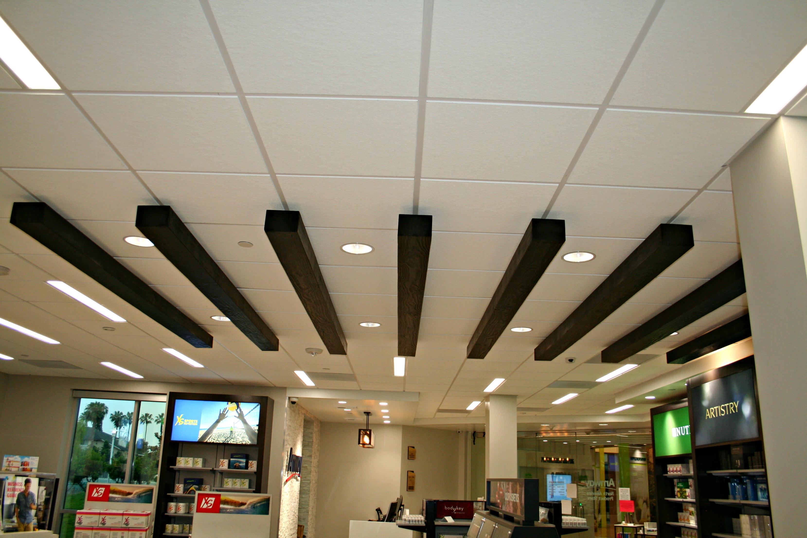 showroom beam ceiling