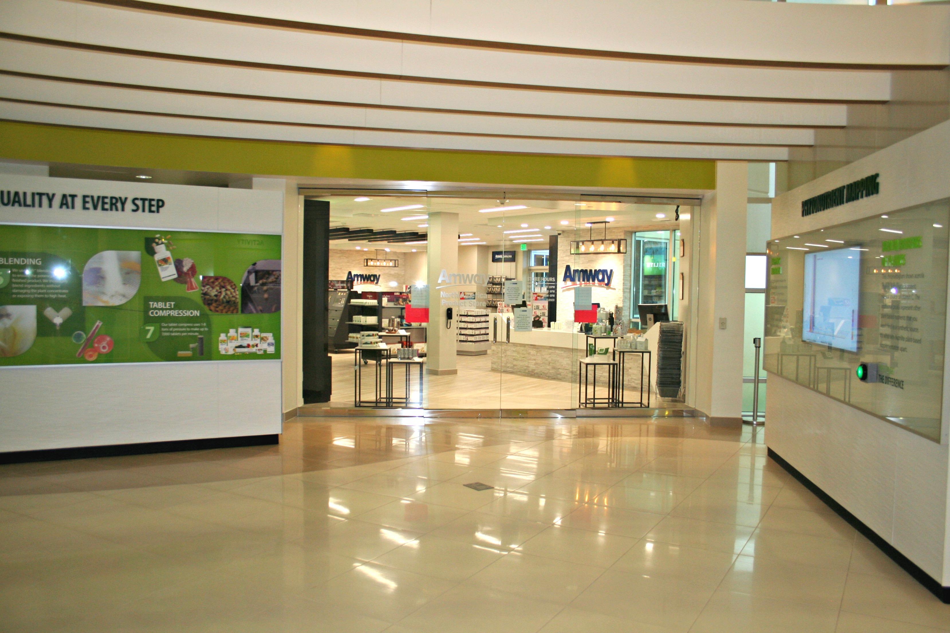 glass doors retail entryway